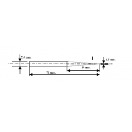 HEXACON - PONTA P/ FERRO PT-100 - 100W CONICA-