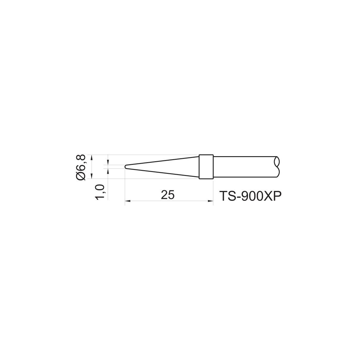 TOYO - PONTA CON. P/EST. DE SOLDA TS 900XP