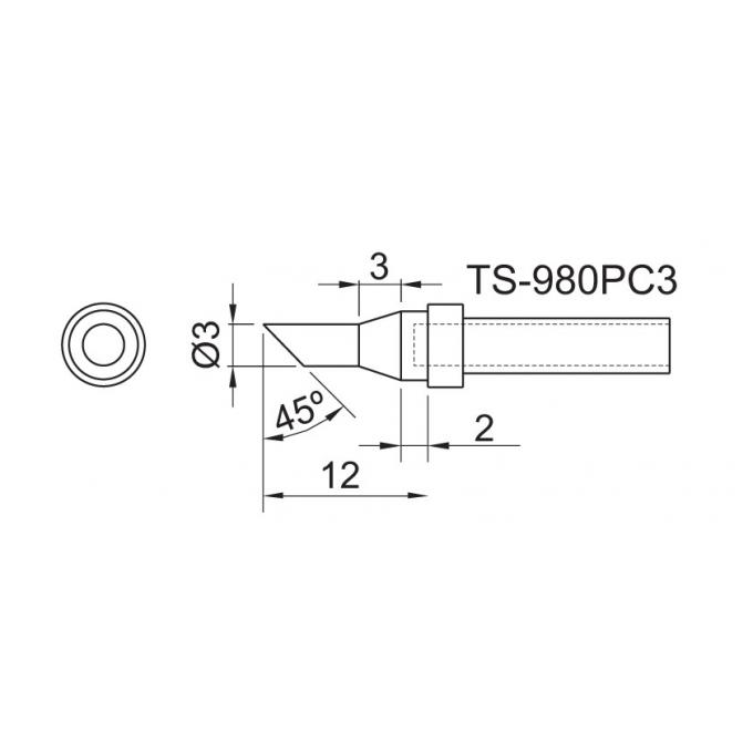 TOYO - PONTA CON. P/EST. DE SOLDA TS 980PC 3