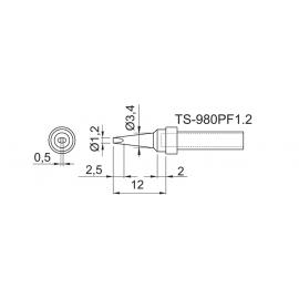 TOYO - PONTA FEN. P/EST. DE SOLDA TS 980PF 1,2