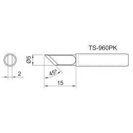 TOYO - PONTA CON. P/EST. DE SOLDA TS 960PK