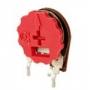 TRIMPOT VERTICAL 14MM COM BOTAO VM-     100 R