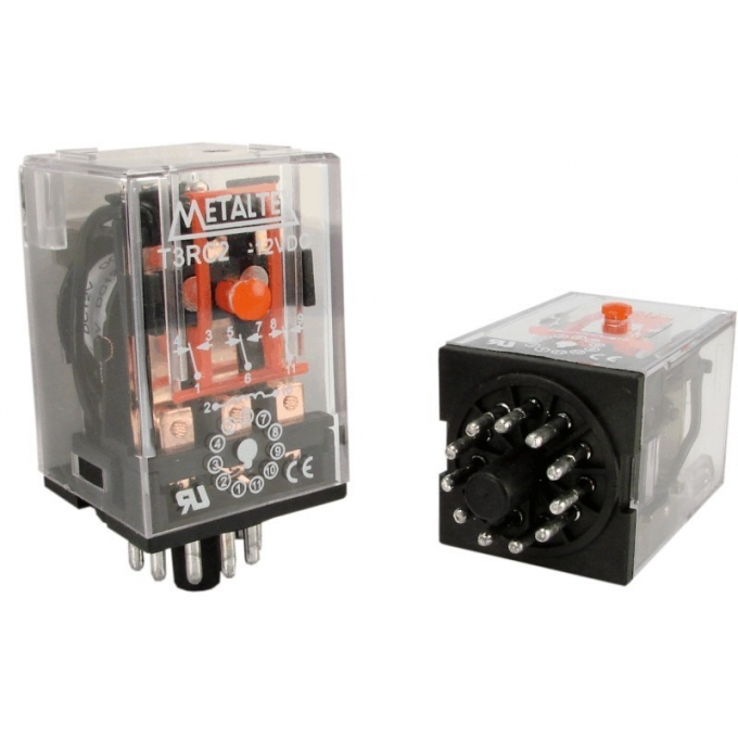 RELE T 2 RA 4 - 220 VCA - METALTEX