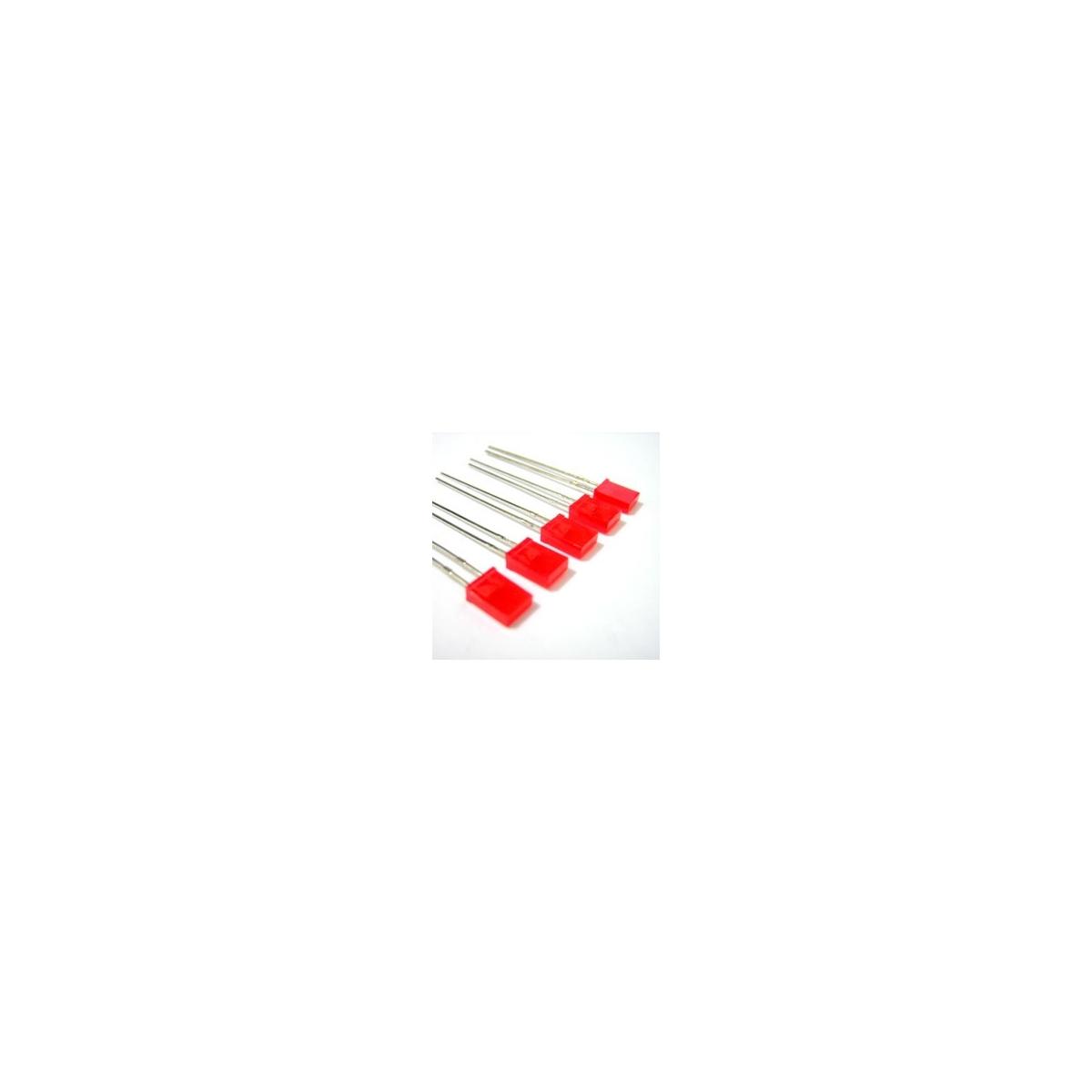 LED VERMELHO RETANGULAR - TMCL 162