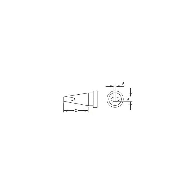 WELLER - PONTA LTA16 FEN. 1,6X12,5MM (WSP80)